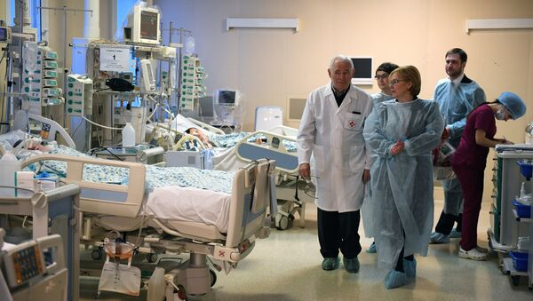 El hospital donde se encuentra el menor de 11 meses quien fue hallado en Magnitogorsk el pasado 31 de diciembre tras el derrumbe de un edificio de vivienda - Sputnik Mundo