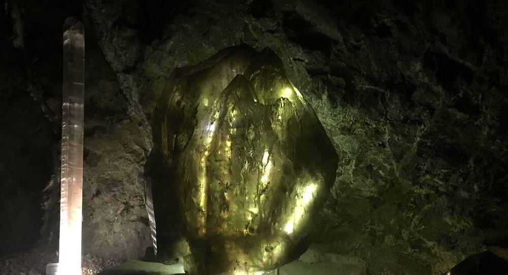 La criptonita en el museo de Las Rocas y Fósiles en Zacatecas, México