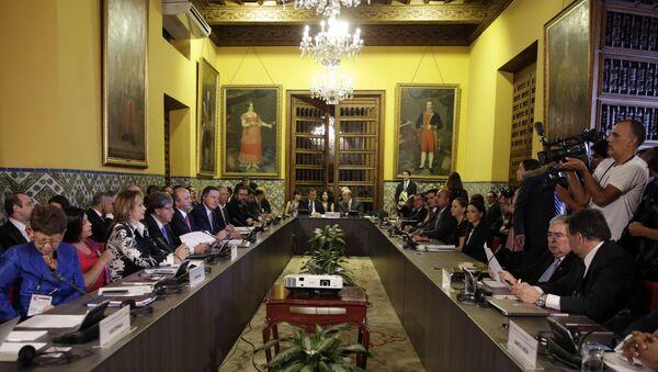 La cumbre del Grupo de Lima en la capital peruana - Sputnik Mundo
