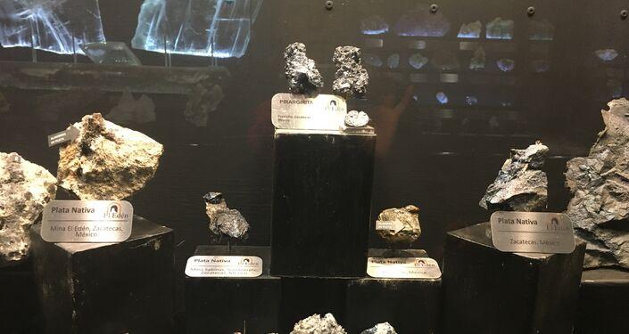 Las piedras expuestas en el museo de Las Rocas y Fósiles en Zacatecas, México
