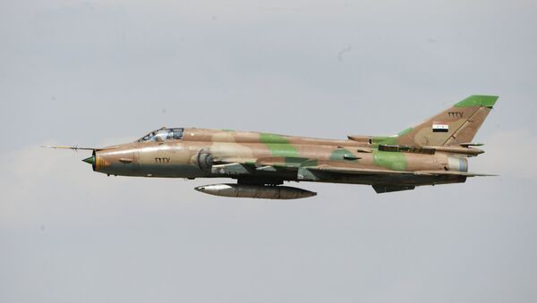 El avión sirio Su-17 - Sputnik Mundo