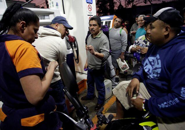 Una gasolinera en la Ciudad de México