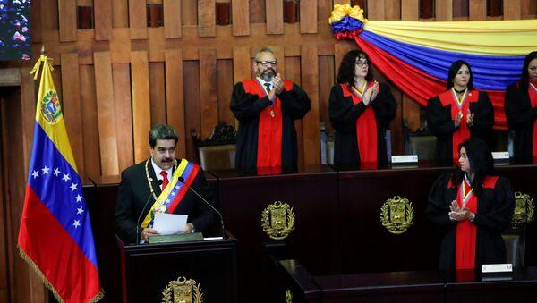 Nicolás Maduro, presidente de Venezuela asume su segundo mandato - Sputnik Mundo