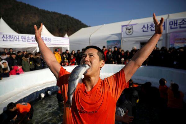 Festival de la trucha en Corea del Sur - Sputnik Mundo