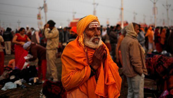Los peregrinos en Allahabad, India - Sputnik Mundo