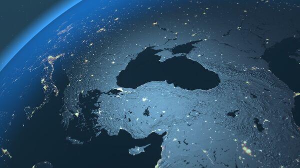 El mar Negro visto desde el espacio (imagen referencial) - Sputnik Mundo