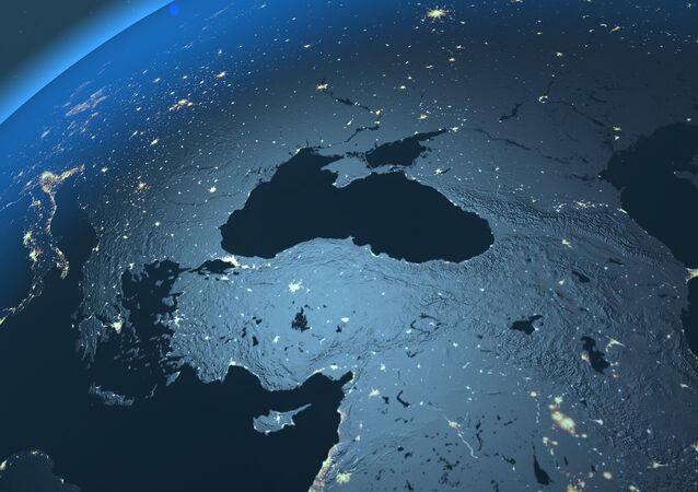 El mar Negro visto desde el espacio (imagen referencial)