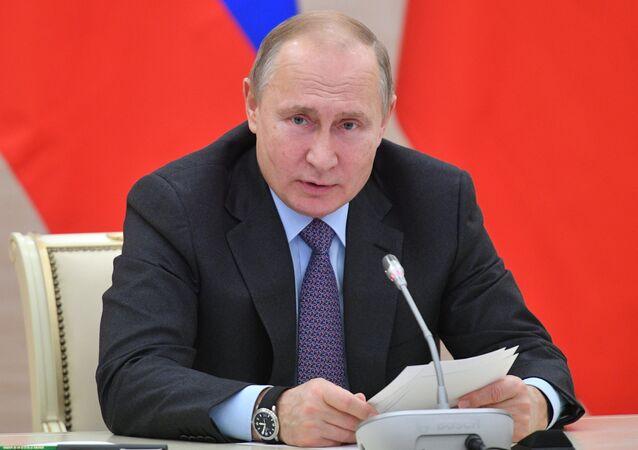 El presidente ruso, Vladímir Putin, en Kaliningrado