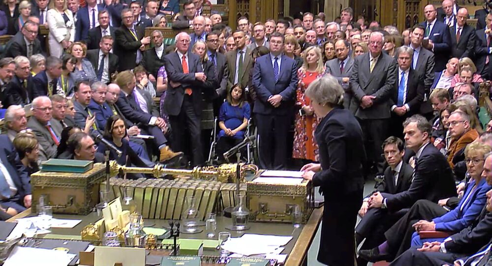 Theresa May, primera ministra del Reino Unido, en el Parlamento