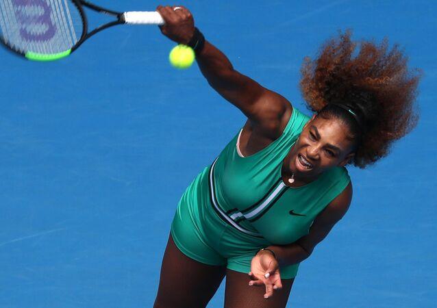 Serena Williams durante el Open de Australia de 2019