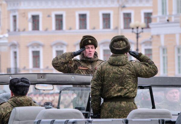 Ensayo del desfile en honor al 75 aniversario de la ruptura del sitio de Leningrado - Sputnik Mundo