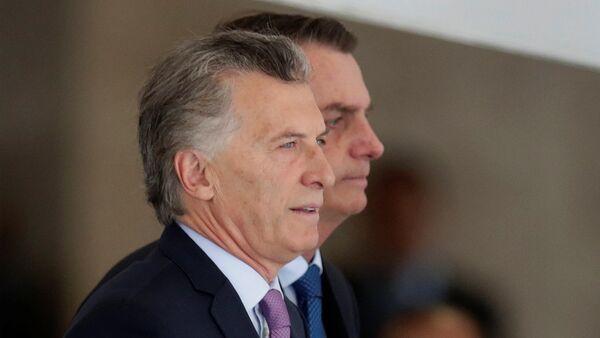 Mauricio Macri y Jair Bolsonaro, presidentes de Argentina y Brasil respectivamente - Sputnik Mundo