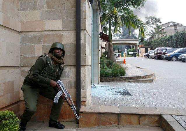 Lugar del atentado en Nairobi, Kenia