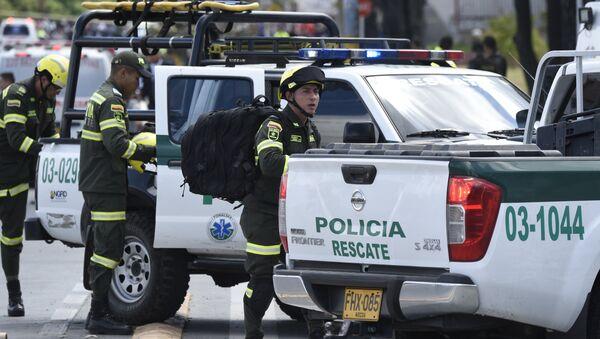 La policía de Colombia en Bogotá - Sputnik Mundo