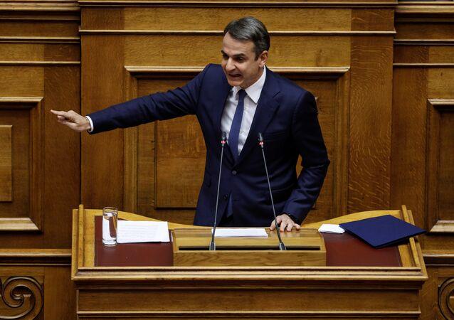 Kyriakos Mitsotakis, el líder del opositor Partido de la Nueva Democracia de Grecia