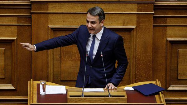 Kyriakos Mitsotakis, el líder del opositor Partido de la Nueva Democracia de Grecia - Sputnik Mundo
