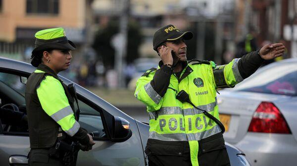 La Policía de Bogotá en el lugar del atentado - Sputnik Mundo