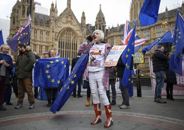 Protesta contra el Brexit (archivo)