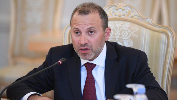 Yebran Basil, Ministro de Exteriores de Líbano - Sputnik Mundo