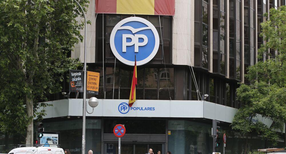 Sede nacional del Partido Popular (PP) en Madrid
