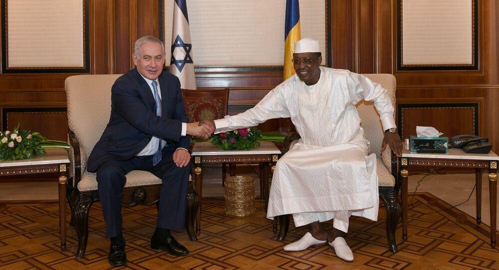 Benjamín Netanyahu, primer ministro de Israel, y el presidente de Chad, Idriss Déby