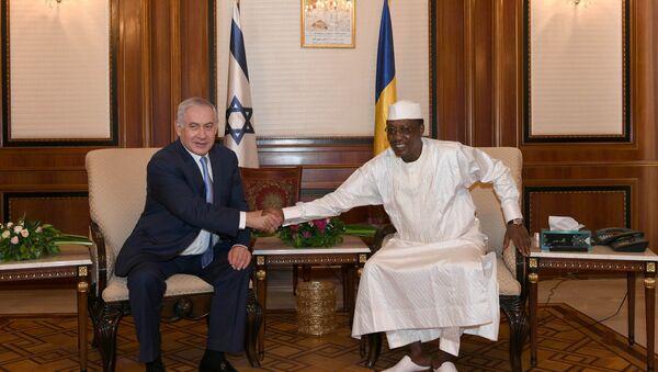 Benjamín Netanyahu, primer ministro de Israel, y el presidente de Chad, Idriss Déby - Sputnik Mundo
