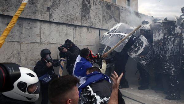 Protestas en Atenas - Sputnik Mundo
