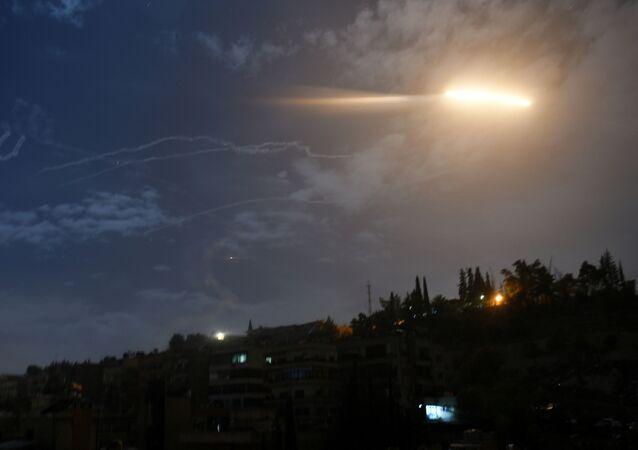 Ataque de misiles contra Damasco, Siria (archivo)