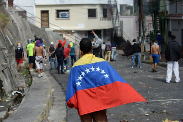 La tensa situación en Caracas - Sputnik Mundo
