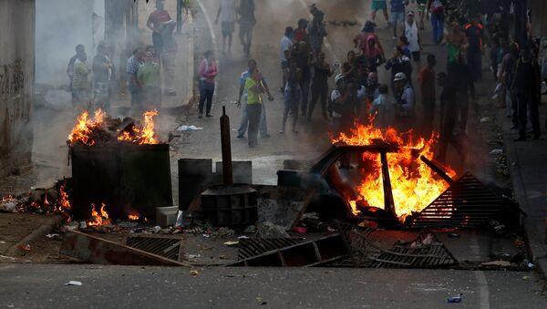 Protestas en Caracas - Sputnik Mundo