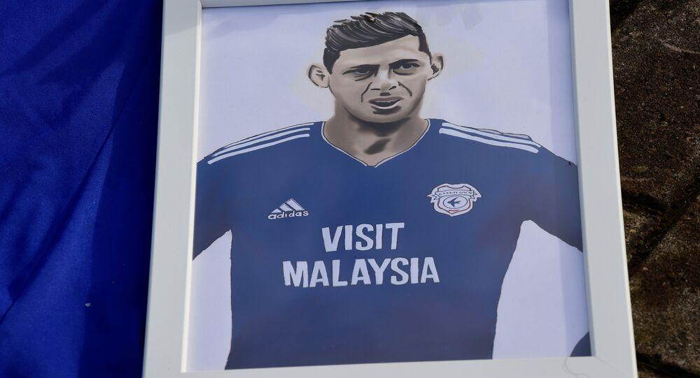 Retrato de Emiliano Sala, el futbolista argentino y uno de los ocupantes del vuelo Nantes-Cardiff