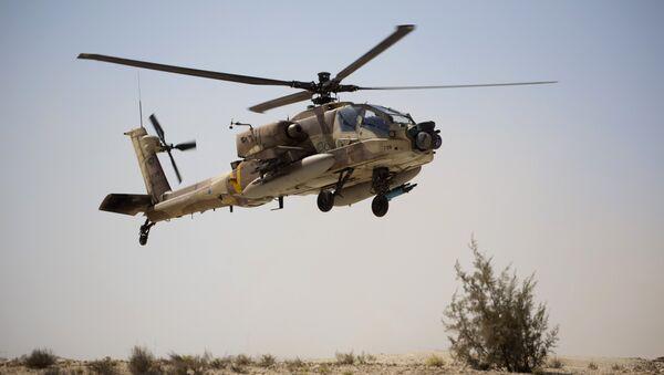 Helicóptero estadounidense AH-64 Apache - Sputnik Mundo