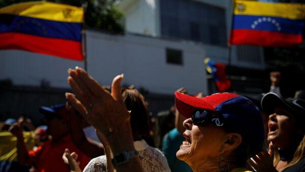 Manifestación en Venezuela - Sputnik Mundo