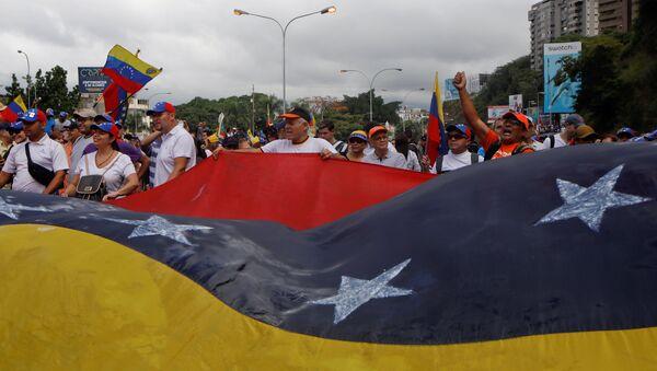 Protestas antigubernamentales en Caracas, Venezuela - Sputnik Mundo