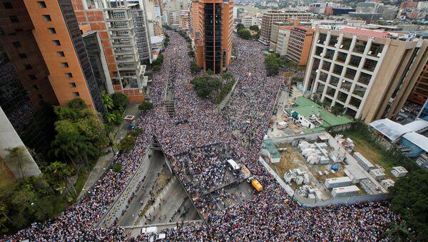 Manifestación en Caracas - Sputnik Mundo