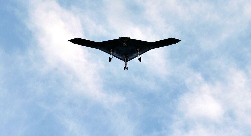Un dron furtivo, imagen referencial