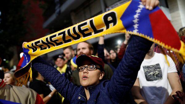 Protestas a favor de la oposición venezolana - Sputnik Mundo