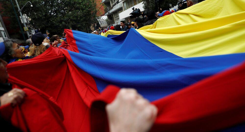 La bandera venezolana en las protestas (archivo)