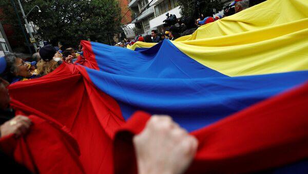 La bandera venezolana en las protestas - Sputnik Mundo