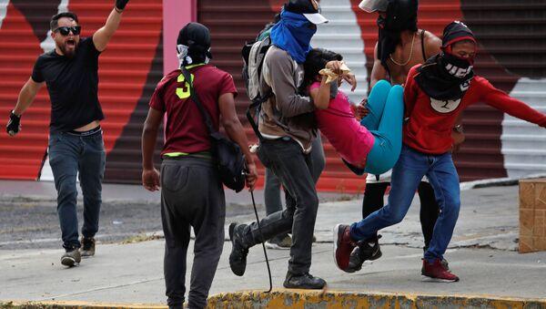 Protestas de la oposición en Venezuela - Sputnik Mundo