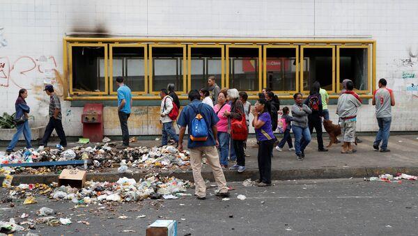 Situación en Caracas tras protestas - Sputnik Mundo