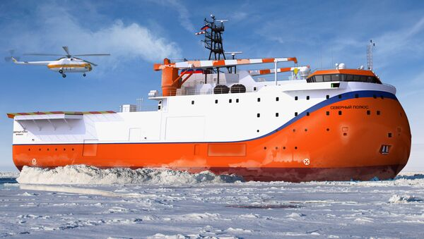 Las nave rusa Severni Polius - Sputnik Mundo