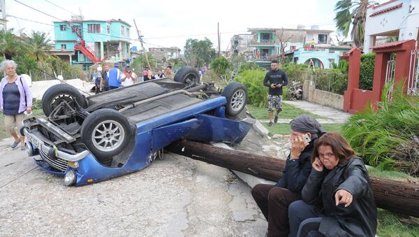 Las consecuencias del tornado en La Habana, Cuba - Sputnik Mundo