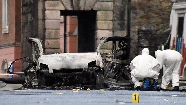 Lugar de la explosión en Derry-Londonderry - Sputnik Mundo