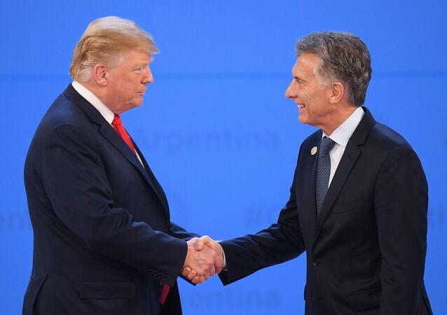 El presidente de EEUU, Donald Trump, y su par argentino, Mauricio Macri