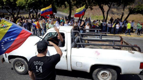 Protesta de la oposición en Caracas - Sputnik Mundo