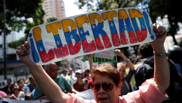 Protestas contra el presidente venezolano, Nicolás Maduro, en Caracas - Sputnik Mundo