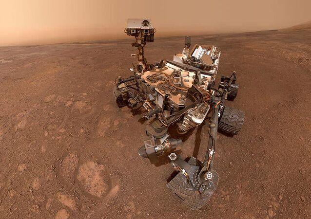 Selfi del róver Curiosity