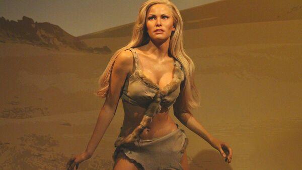 La figura de cera de la heroína interpretada por Raquel Welch en la película 'One Million Years B.C.' - Sputnik Mundo