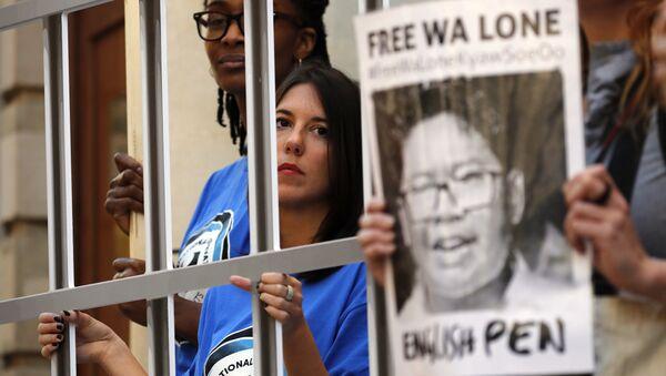 Manifestación en apoyo a los periodistas de Reuters detenidos en Birmania (archivo) - Sputnik Mundo
